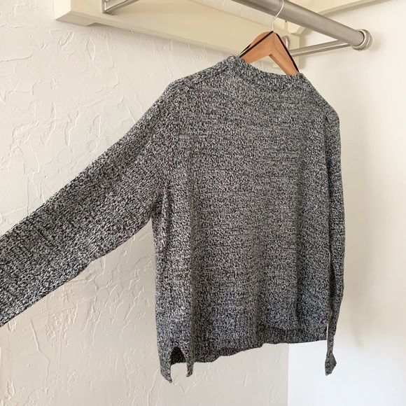 Divided Black & White Speckled Sweater